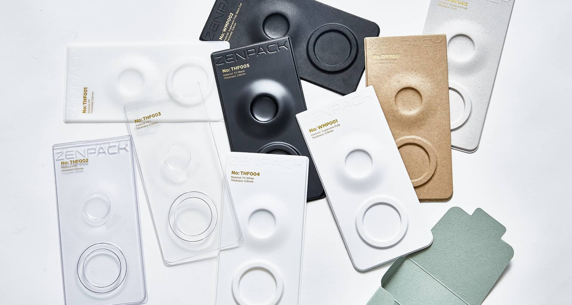 variety of thermoformed trays